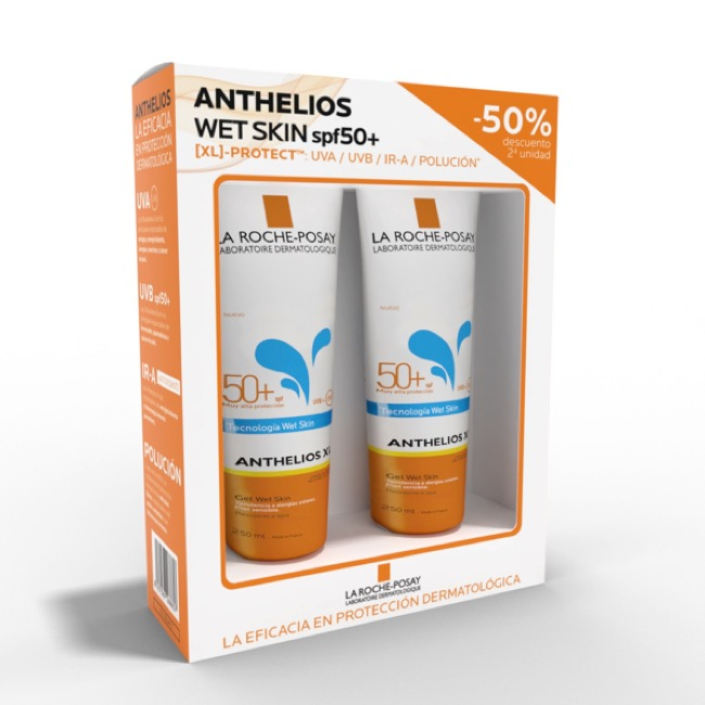 Anthelios Corporal Wet Skin Spf50 duplo 250ml+250ml