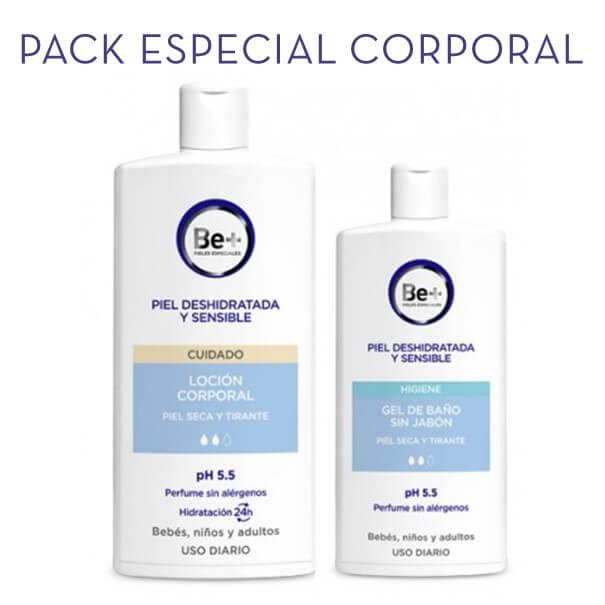 Be+ locion corporal 1 l + gel de baño sin jabon 400 ml