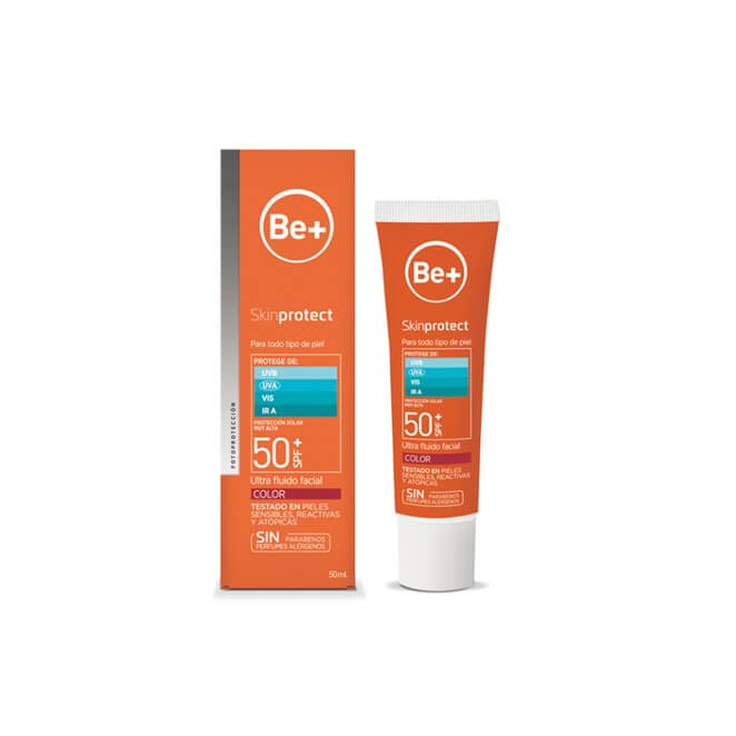 Be+ Skin Protect Ultra fluido facial color spf50+ 50 ml