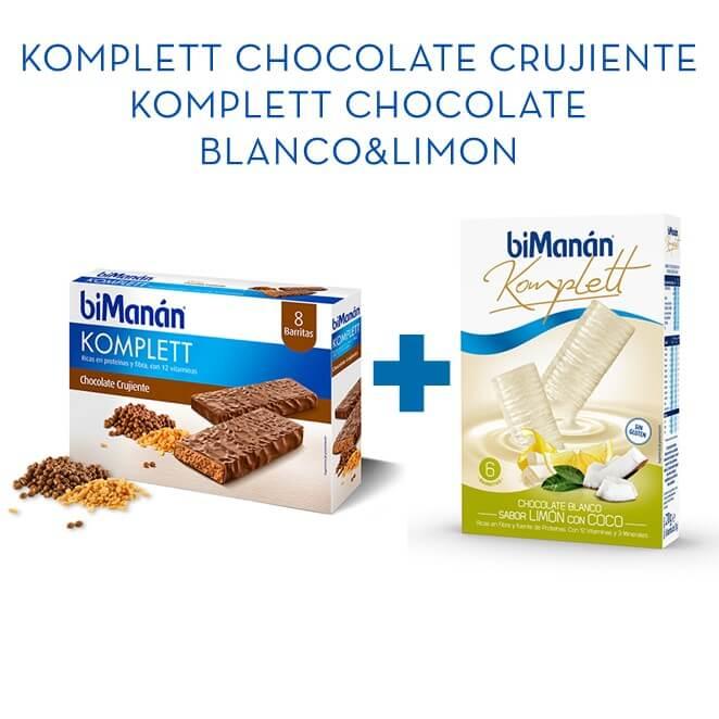 Bimanan Komplett Chocolate 8ud + Komplett Limon&Coco 6ud