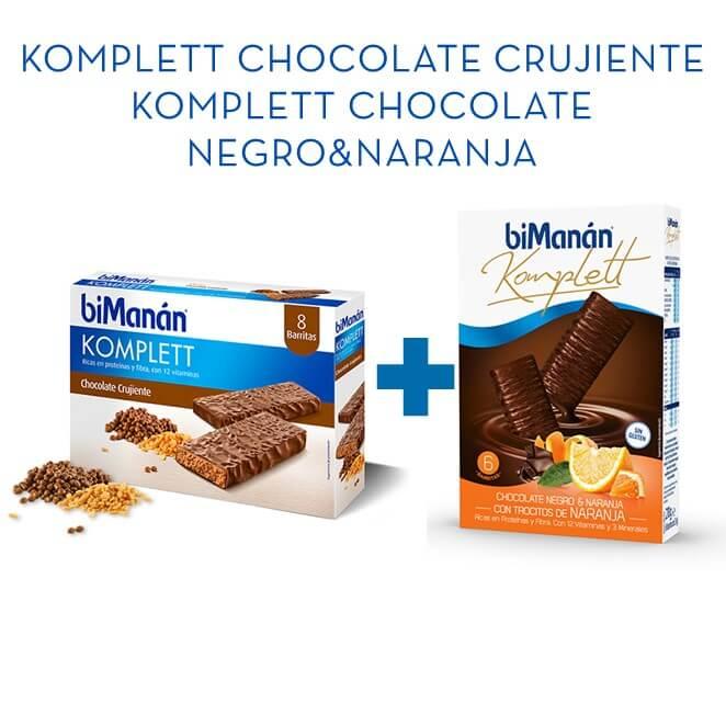 Bimanan Komplett Chocolate 8ud + Komplett Choco&Naranja 6ud
