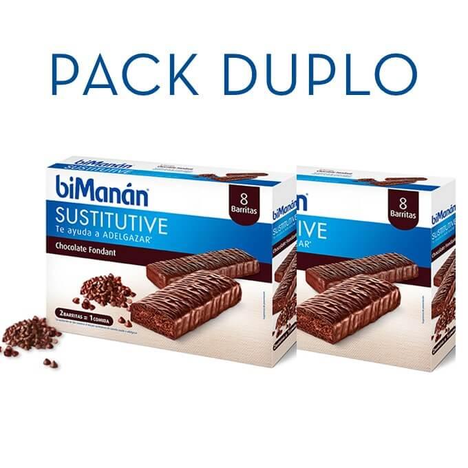 Bimanan Sustitutive Barritas Chocolate Fondant Duplo 8+8 Barritas
