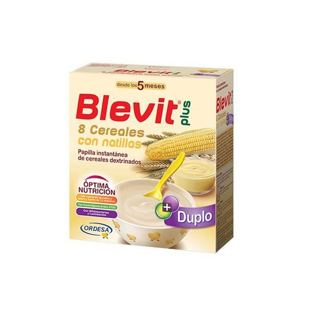Blevit Plus Duplo 8 Cereales con Natillas 600 g