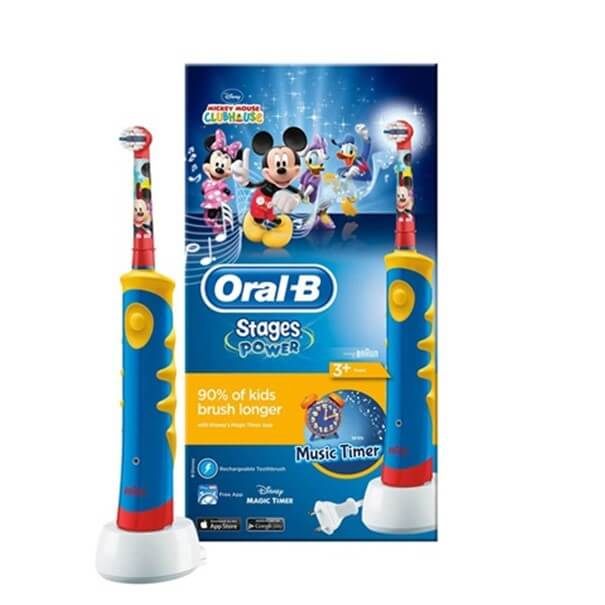 cepillo electrico oral-b stages power mickey mouse