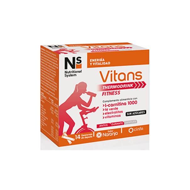 N+s Vitans thermodrink fitness 14 sobres