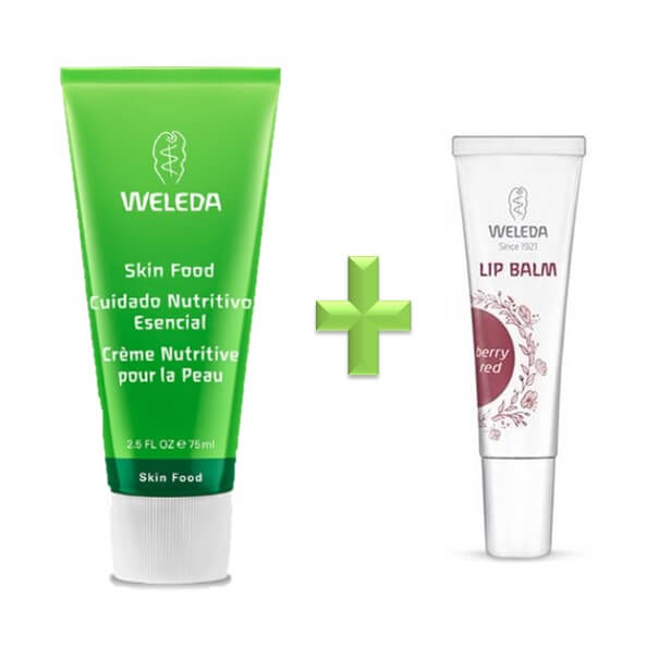 weleda cofre skin food 75 ml + lip balm berry red 10 ml