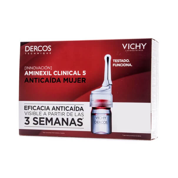 Dercos aminexil clinical mujer 21 ampollas