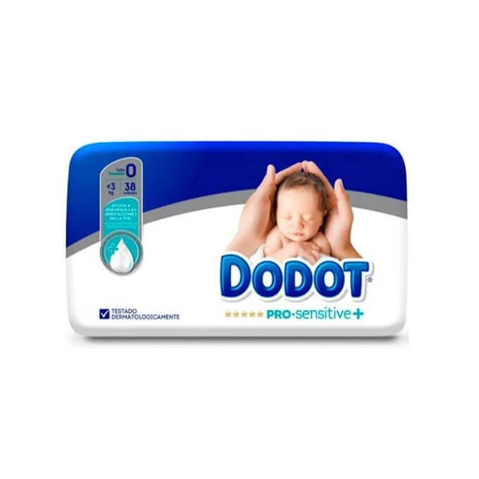 Dodot Pro Sensitive Talla 0 38 ud hasta 3kg