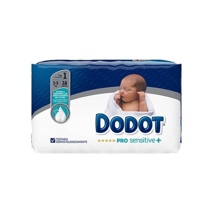 Dodot Pro Sensitive Talla 1 38 ud 2-5kg