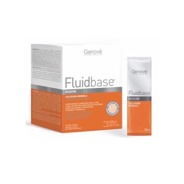 Fluidbase rederm colageno bebible 20 sobres de 25 ml