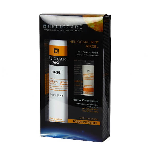 Pack heliocare 360 airgel 200ml + regalo gel 25 ml