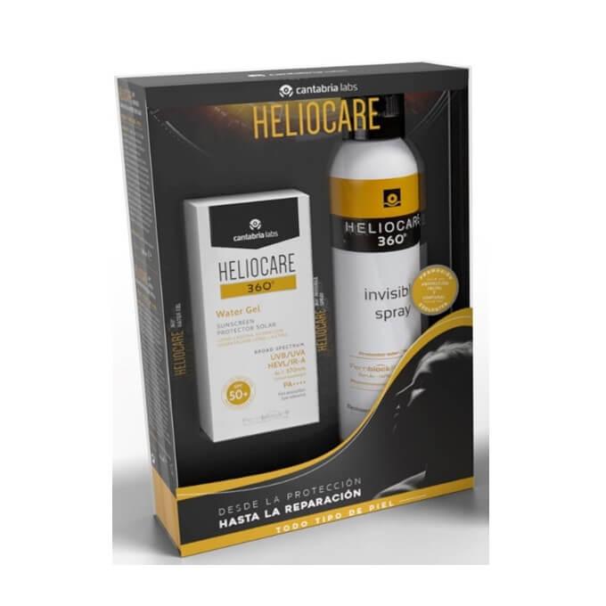 Heliocare 360 Pack Water Gel Spf50 + Spray Transparente Spf50