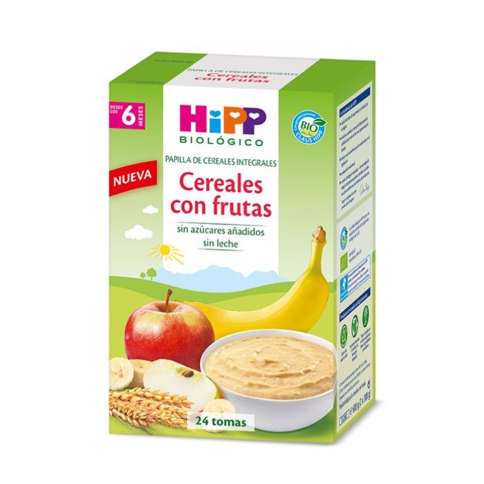 Hipp Biologico papilla cereales con frutas 600g