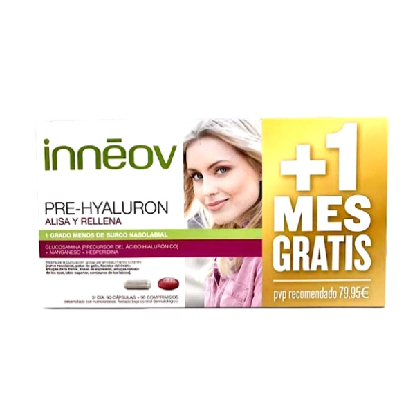 Inneov Pre-Hyaluron tratamiento 2 meses + 1 de regalo