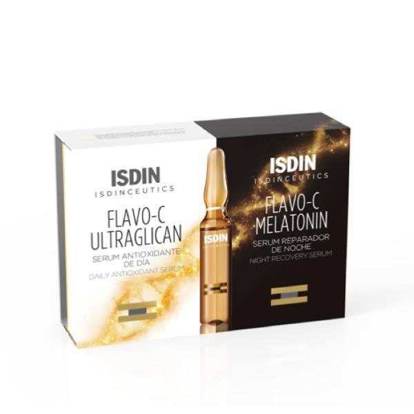 isdinceutics flavo c ultraglican 10 amp + flavo c melatonin10 am