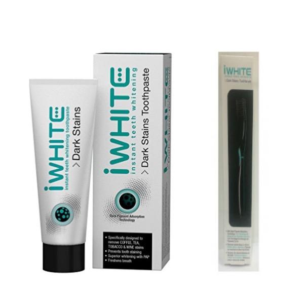 Iwhite pasta dental manchas oscuras 75 ml + regalo cepillo dental