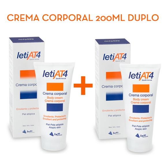 Leti at4 pack duplo crema corporal 200 ml + 200 ml