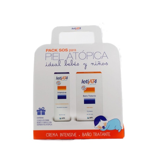 pack leti sos at4 crema intensive 100ml + baño tratante 200ml