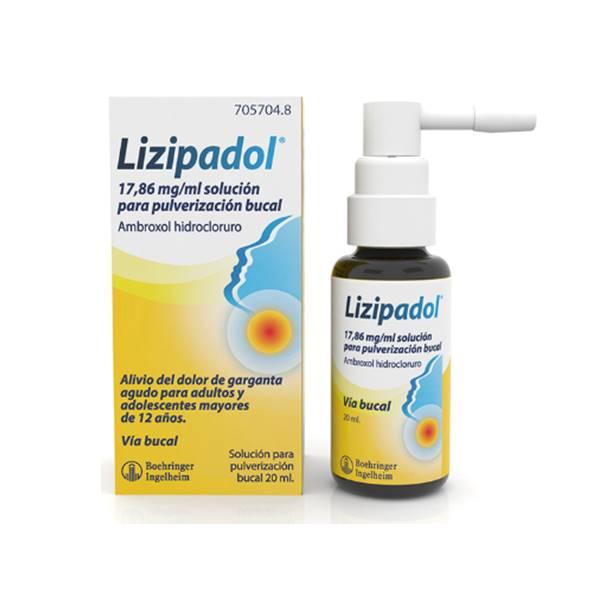 Lizipadol solución para pulverización bucal 20 ml
