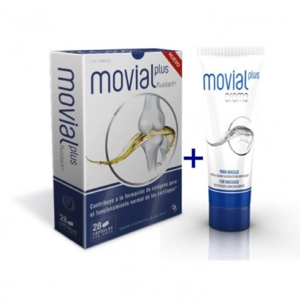 Movial plus pack promocional 28 capsulas + crema