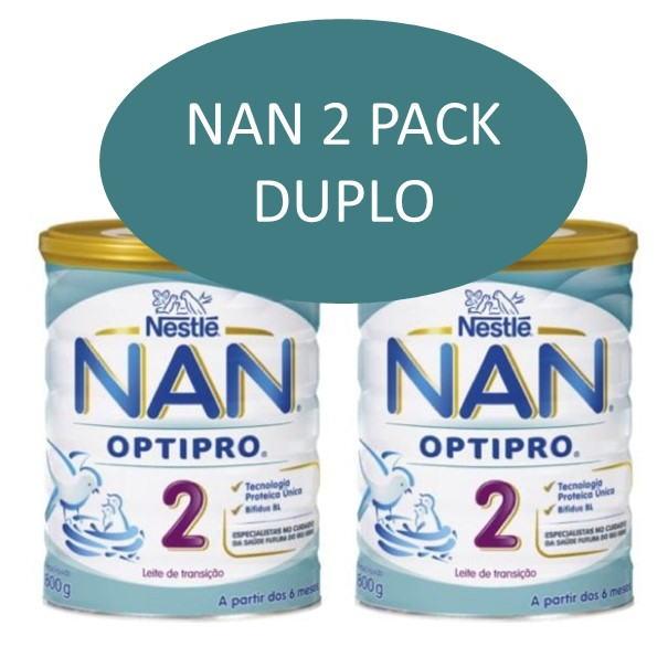 Nan 2 optipro duplo 800+800 g sin aceite de palma