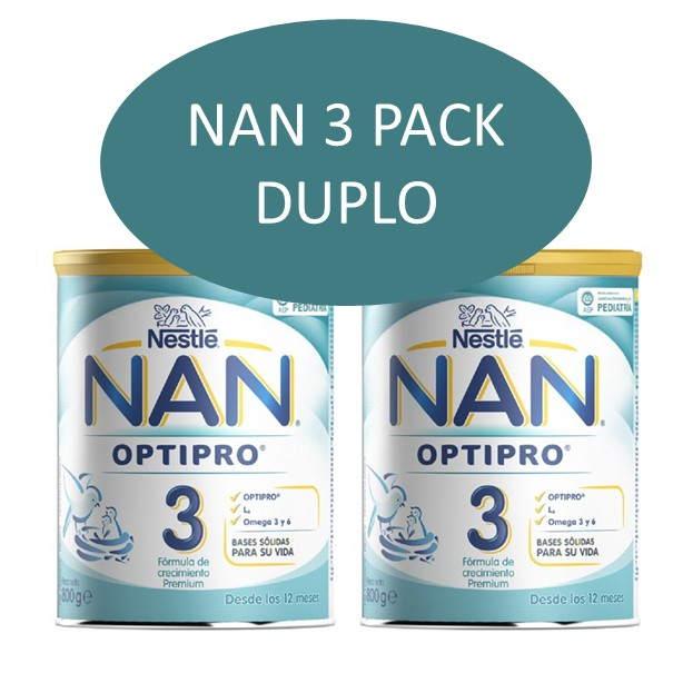 Nan 3 optipro pack duplo 800+800 g