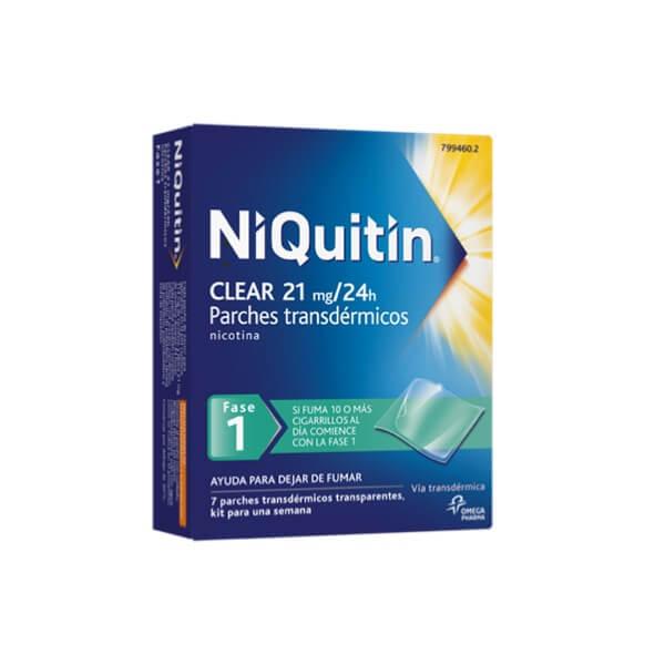 Niquitin Clear Fase 1 21mf/24h 7 Parches Transdermicos