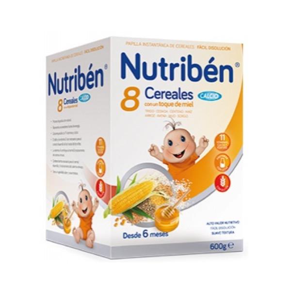 Nutriben 8 cer y miel calcio 600 g