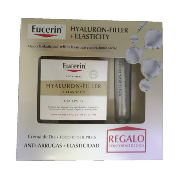 Eucerin pack hyaluron-filler elasticity 50ml + contorno de ojos regalo