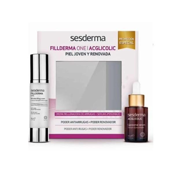 Sesderma pack antiarrugas fillderma one + acglicolic
