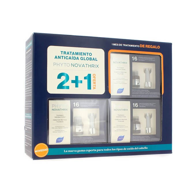 Phytonovathrix Tratamiento Anticaida Global Pack 3 Meses 36 viales