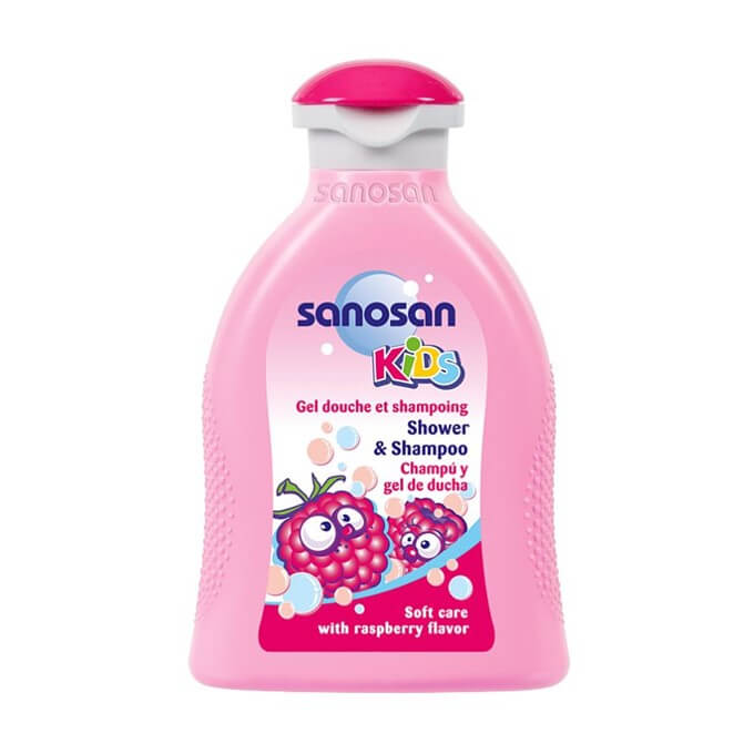 Sanosan Kids Champu y Gel de Ducha Olor Frambuesa 200 ml