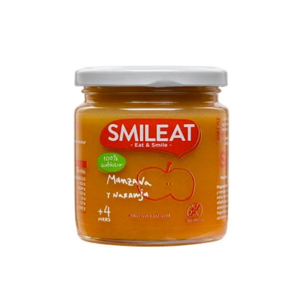 smileat tarrito ecologico manzana y naranja +4m 230g