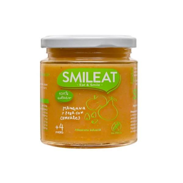Smileat tarrito ecologico manzana y pera con cereales +4m 230g