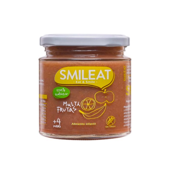 Smileat tarrito ecologico multifrutas +4m 230g