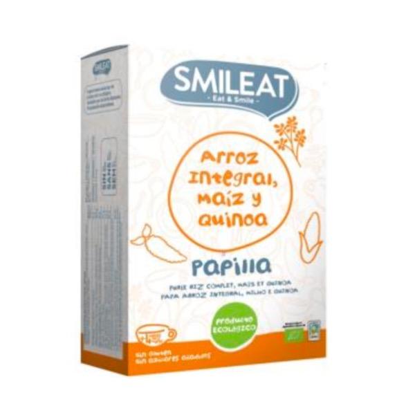 Smileat papilla ecologica arroz integral maiz y quinoa 230 g