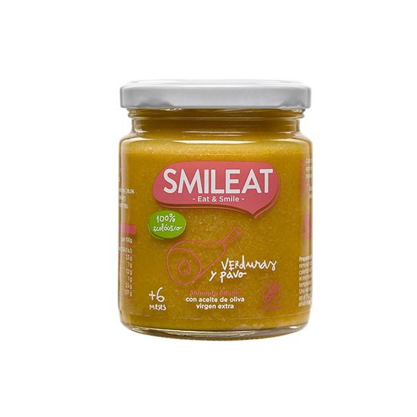 Smileat tarrito ecologico verduras y pavo +6m 230g