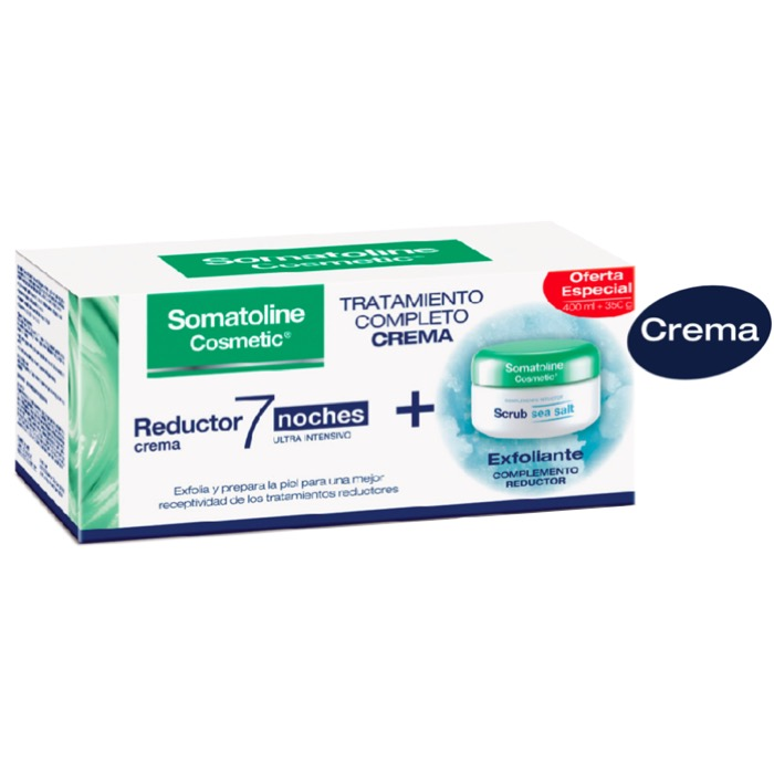 Somatoline Pack Crema Reductora 7 noches 400ml + Exfoliante Srub 350g