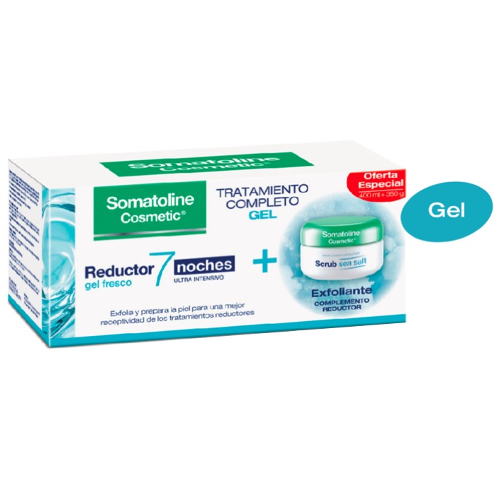 Somatoline Pack Gel Reductor 7 noches 400ml + Exfoliante Srub 350g