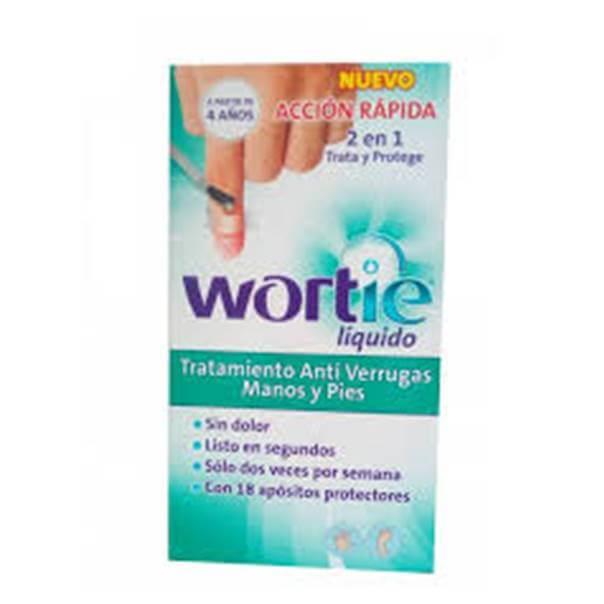 Wortie liquido antiverrugas manos y pies 5 ml