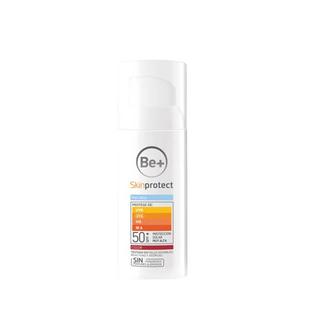 Be+ Skin Protect Facial Piel seca color spf50+ 50 ml