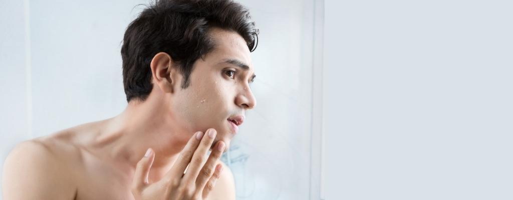 Cosmética masculina y características de la piel en hombres