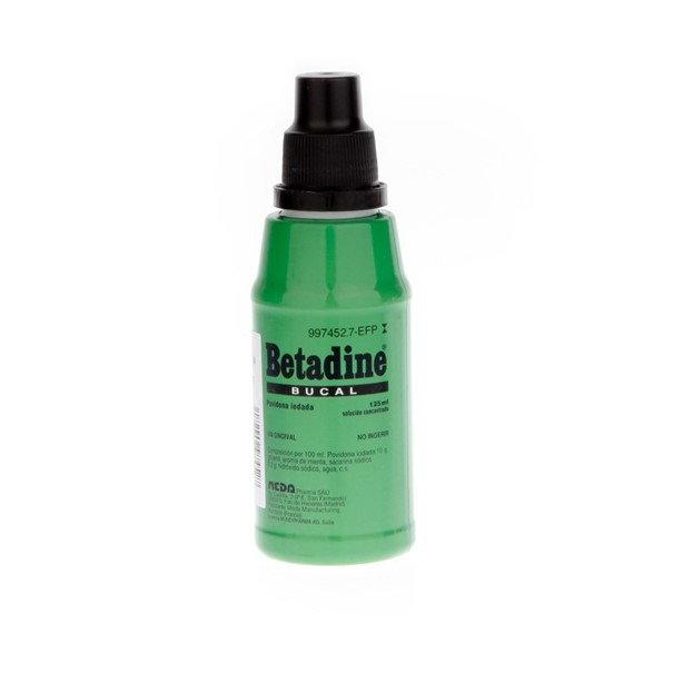 Betadine solución bucal 125 ml