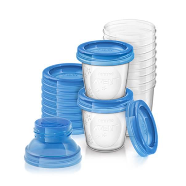 Avent recipientes para leche materna