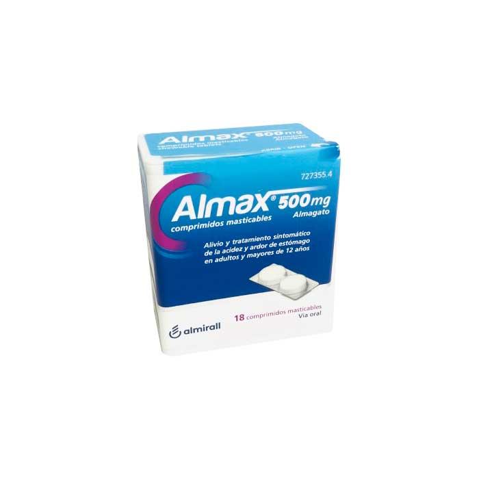 Almax 500mg 18 Comprimidos Masticables