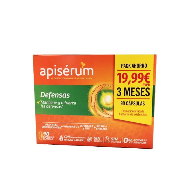 Apiserum Defensas Pack Ahorro 90 Capsulas