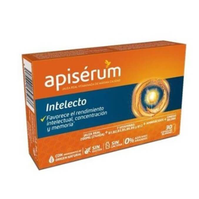 Apiserum Intelecto Jalea Real 30 Capsulas