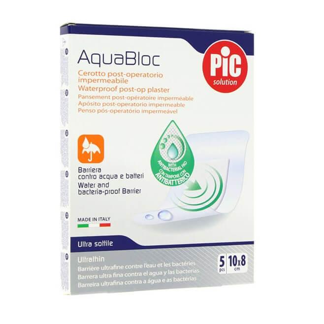 AquaBloc Aposito Post-Operatorio Impermeable 10x8cm 5 Parches