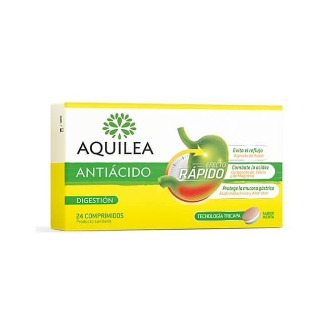 Aquilea Antiacido Efecto Rapido 24 Comprimidos Tricapa Sabor Menta