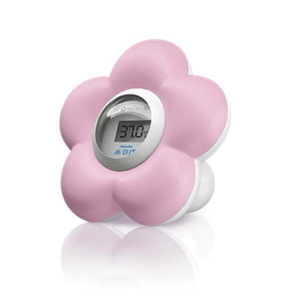 Avent Termometro Baño/Habitación Del Bebe Rosa